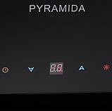 Pyramida HES 30 D-600 black/AJ наклонная кухонная вытяжка, черное стекло с мотором Aero2Jet, фото 3