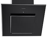 Pyramida HES 30 D-600 black/AJ наклонная кухонная вытяжка, черное стекло с мотором Aero2Jet, фото 4
