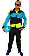 Кислотный мужской спортивный костюм Adidas S(44)