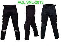 Мотоштаны текстильные мужские итальянские черные размер L