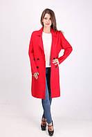 Яркое женское пальто из кашемира классика (красный)