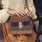 Маленькая женская сумка с бахромой, фото 3
