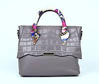 Лиловая женская сумка в офис
