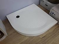 Поддон для душевой кабины Fancy Marble полукруглый 900х900 R550 Комплект