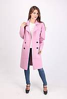 Нарядное кашемировое женское пальто классика (нежно-розовый)