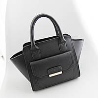 Черная женская сумка трапеция, кроссбоди
