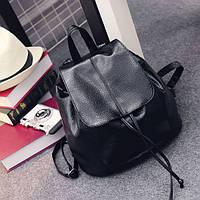 Черный рюкзак кожаный.