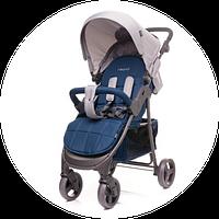 Прогулочная детская коляска с поворотными колесами 4Baby Rapid