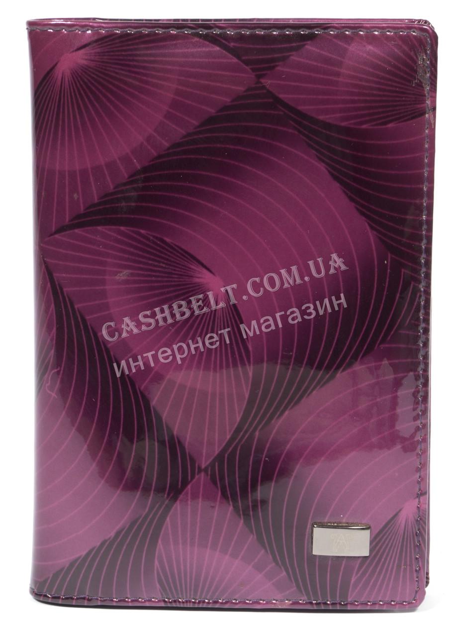 Стильная лаковая кожаная документница высокого качества WILDNESS art. 2106-C63 фиолетовый