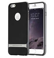 "TPU+PC чехол Rock Royce Series для Apple iPhone 7 plus / 8 plus (5.5"") Черный / Серый"