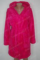 Махровый женский халат на запах M, L, XL, XXL розовый