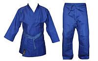 Кімоно дзюдо синє MATSA MA-0015-3 (х-б, р-р 3 (160см), вага 1кг), фото 1