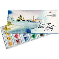Набор акварельных красок, Белые Ночи, 24 цвета, кювета, картон