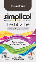 Simplicol expert Nuss-Braun - Текстильная краска темно коричневого цвета, 150 г