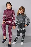 Детские вязанные туники для девочек оптом