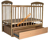 Дитяче ліжечко Наталка світла маятник, ящик