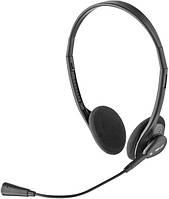 Наушники для компьютера накладные TRUST Primo Headset HS-2100 Black (открытые, проводные 2x3.5 mm mini-jack,
