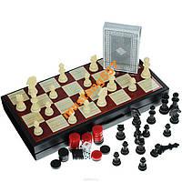 Набор настольных игр: нарды, шашки, шахматы, карты