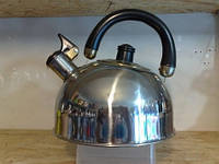 Чайник для плиты на газ со свистком 2-е дно 2,5 л