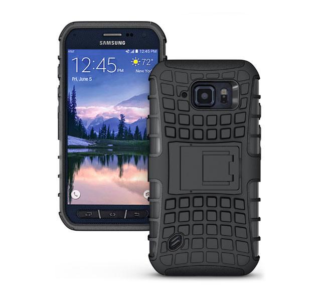 Протиударний бампер Splint для Samsung Galaxy S6 Active (SM-G890) - Black