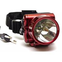 Фонарь аккумуляторный налобный Luxury 1829-1 LED