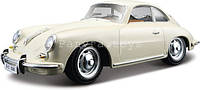 Автомодель PORSCHE 356B 1961 слоновая кость, красный 1:24 Bburago (18-22079)