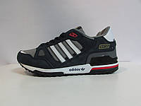 Женские кроссовки Adidas ZX750 синие с белым и красным ( 255-6) код 990А