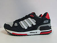 Женские кроссовки Adidas ZX750 темно-синие с белым (255-15) код 992А