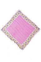 Розовый платок в мелкие ромашки