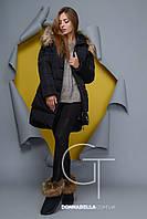Женская зимняя куртка PL-8702 черная  42 размер
