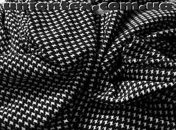 Французский трикотаж принт гусиная лапка (мелкая), фото 2