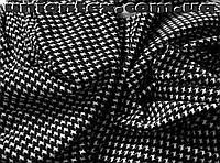 Французский трикотаж принт гусиная лапка (мелкая)