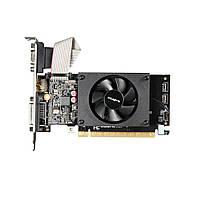 Видеоадаптер Gigabyte NVidia GT710 (2 GB / 64 bit DDR3 / 1800 MHz; PCI-Express x8; HDMI, VGA (D-Sub), DVI; пас