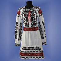 """Вышитое платье """"Борщивка"""", размеры 42-56"""