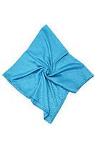Голубой женский платок из батиста