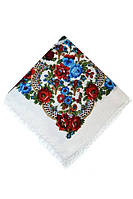 Народный платок в цветочный принт
