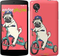 """Чехол на HTC Desire 820 Мопс на велосипеде """"3072u-133"""""""
