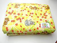 Детское стеганое одеяло (зеленое с животными)