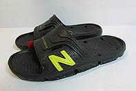 Мужские сланцы NB (104BL) черные с салатовым код 0291А