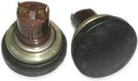 К-2-1П (24мм) кнопка однополюсная черная (нормально замкнутая)