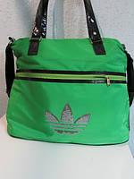 Сумка женская Adidas 77 зеленая код 523А