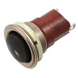 К-2-1 (20мм) кнопка однополюсная черная (нормально замкнутая)