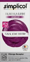 Simplicol intensiv Sinnliche Beere - Текстильная краска ягодного бордового цвета, 150 мл + 400 г