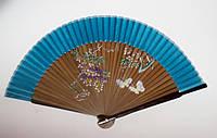 Веер из бамбука и шёлка (21,5 cм)