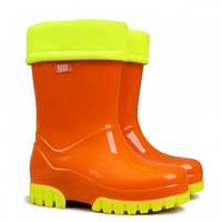 Гумові чобітки (резиновые сапоги) Demar Флуо оранжеві