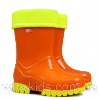 Гумові чобітки (резиновые сапоги) Demar Флуо оранжеві  продажа a80c48a2bce94