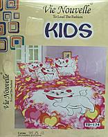 Комплект постельного белья Vie Nouvelle Kids Книжка Сатин Фотопринт