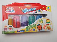 Краски для рисования по стеклу 6 цветов + трафареты