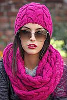 Комплект шапка и шарф хомут женские