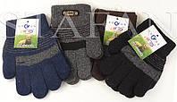 Детские перчатки зимние одинарные оптом. В упаковке 12 пар